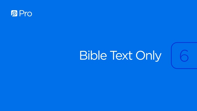 Bible Text Only