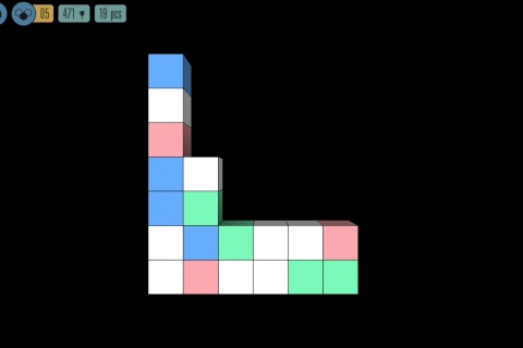 Sea of Squares - a simple relaxing puzzle game.