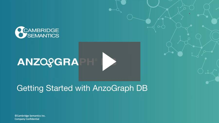 Getting Started with AnzoGraph DB