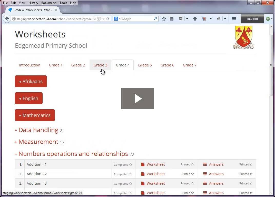 WorksheetCloud for Schools   WorksheetCloud