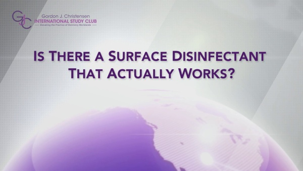 Q173 Is there a surface disinfectant that actually works?