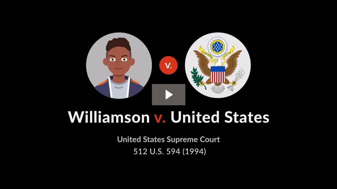 Williamson v. United States