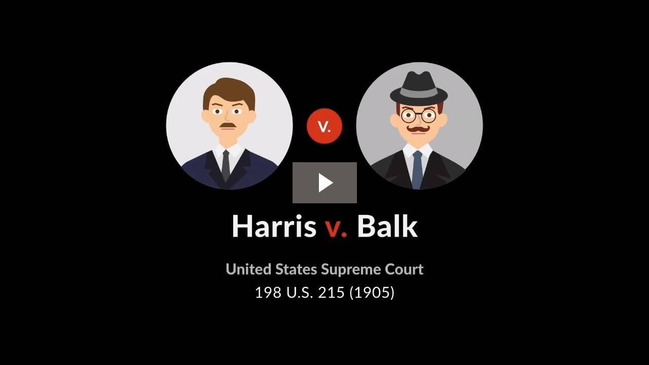 Harris v. Balk