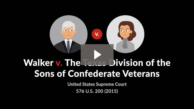 Walker v. Texas Division, Sons of Confederate Veterans