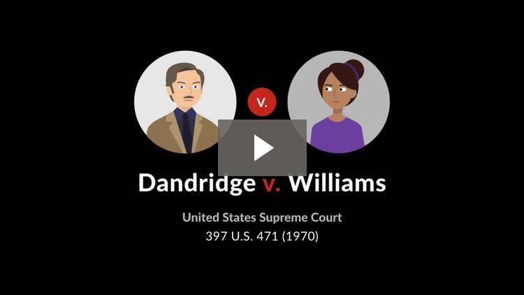 Dandridge v. Williams