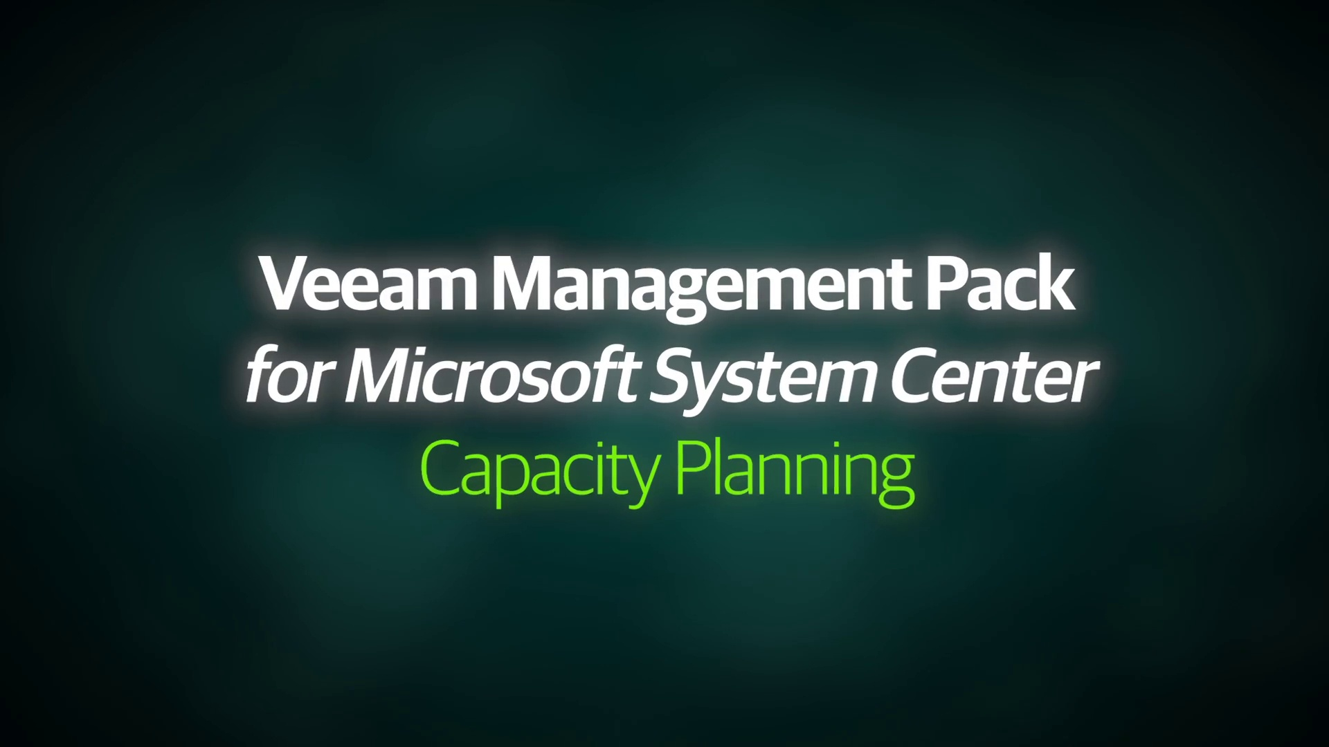 VMP v8 - Demo Video - Capacity Planning - EN
