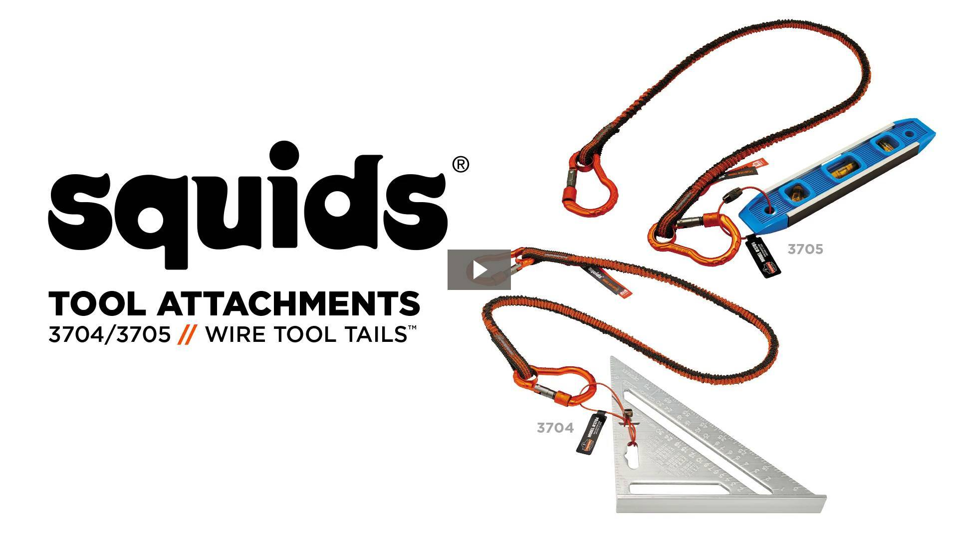 Ergodyne Product Video - Squids<sup>®</sup> 3705 Wire Tool Attachment - Screw Gate Tool Tail<sup>™</sup> - 3lbs (6-Pack)