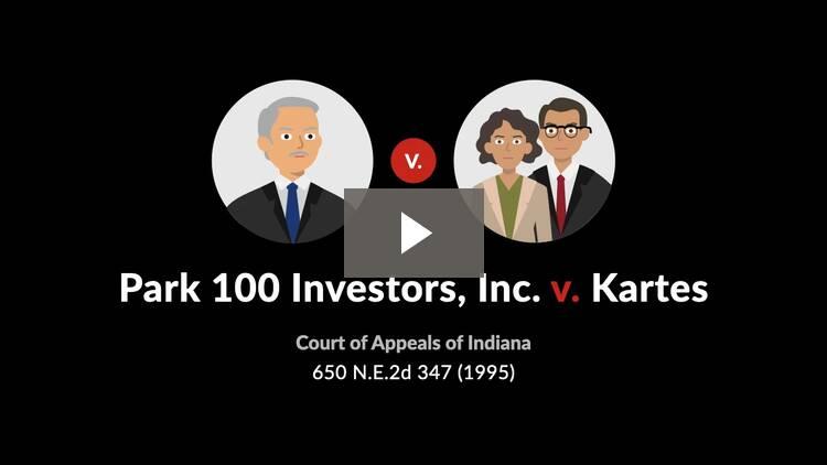 Park 100 Investors, Inc. v. Kartes