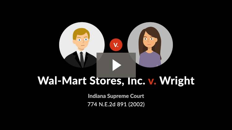 Wal-Mart Stores, Inc. v. Wright