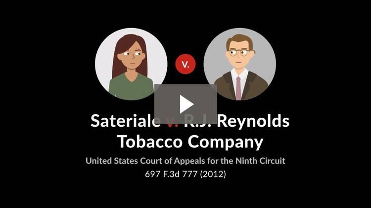 Sateriale v. R.J. Reynolds Tobacco Company