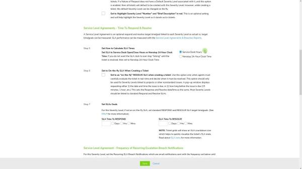 Configure Service Level Agreements (SLAs)