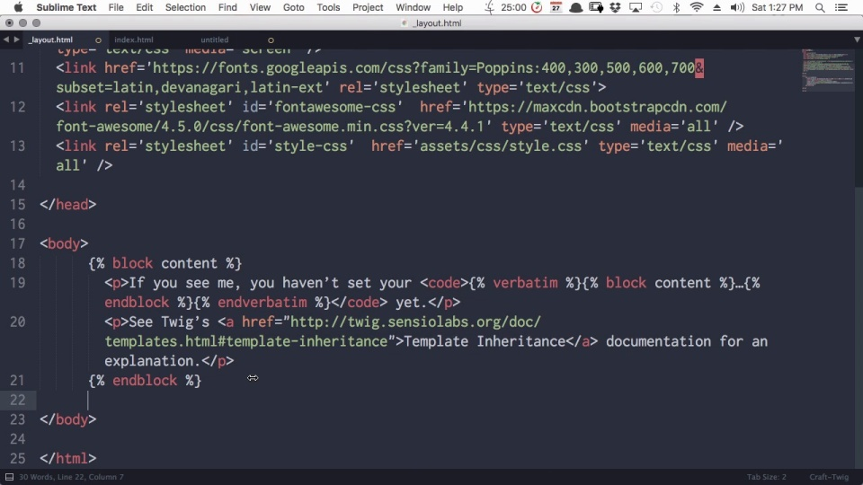 Building Landing Pages With Craft CMS - Setting Up the Template ...