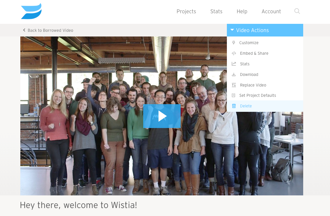 wistia help managing the files in your wistia account