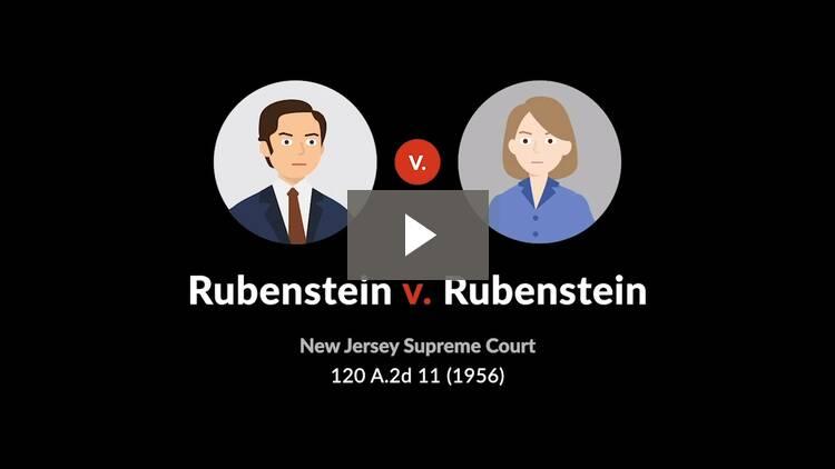 Rubenstein v. Rubenstein
