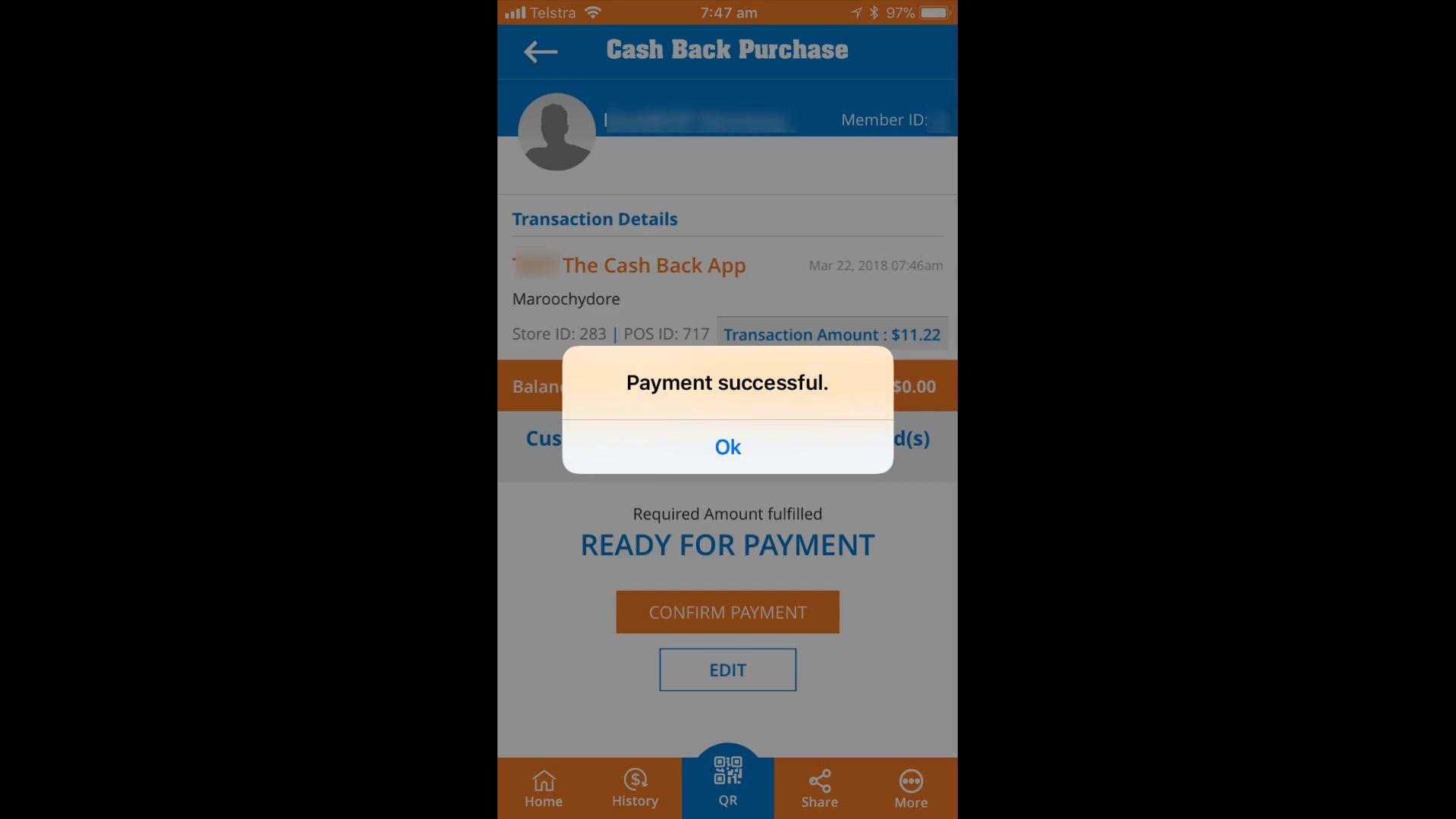 Getting Cash Back at Merchants