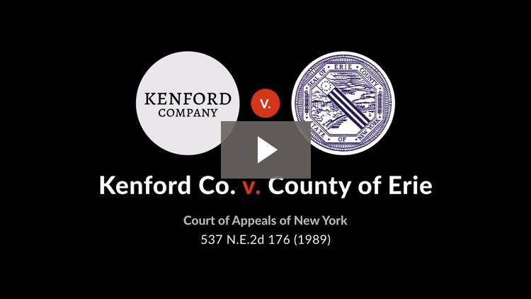 Kenford Co. v. County of Erie