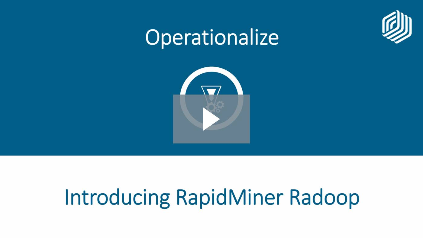 Introducing RapidMiner Radoop