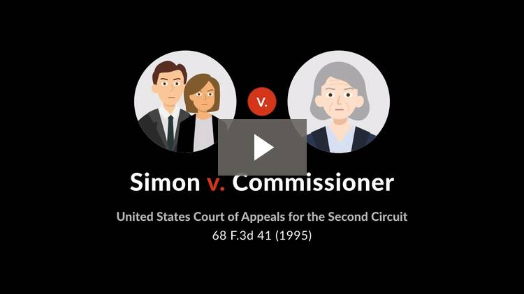 Simon v. Commissioner