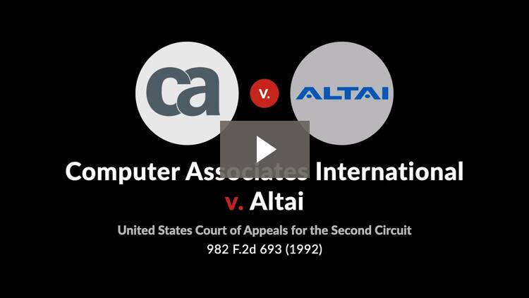Computer Associates International v. Altai, Inc.