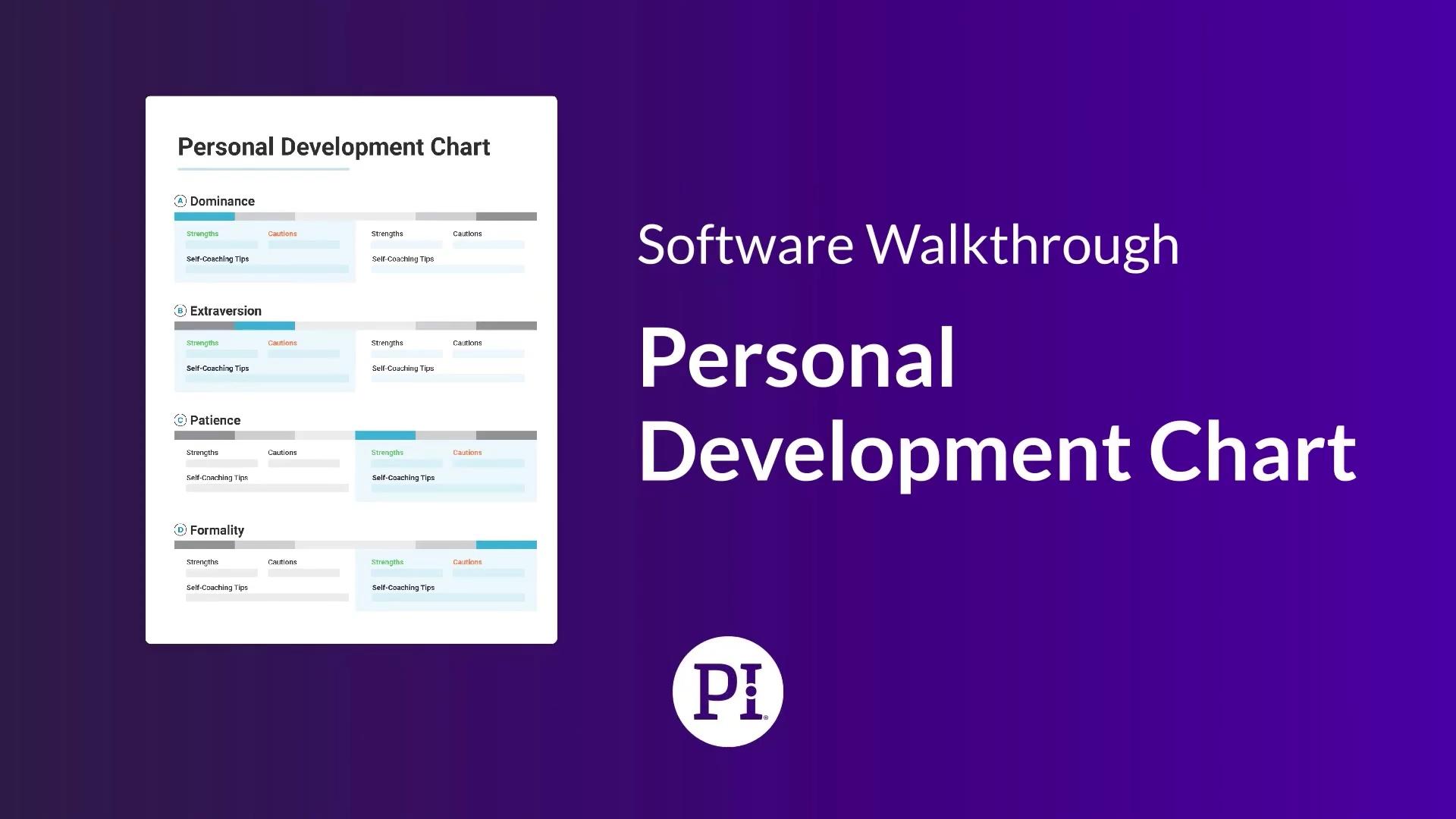 Personal Development Chart Walkthrough