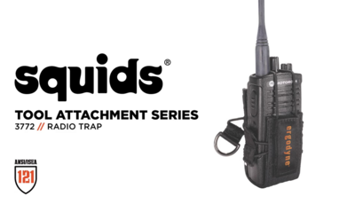 Tether Expensive Radios to Keep Them Secure and Accessible with the Squids® 3772 Radio Holster Trap