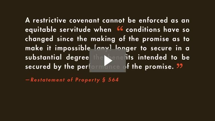 Restrictive Covenants III