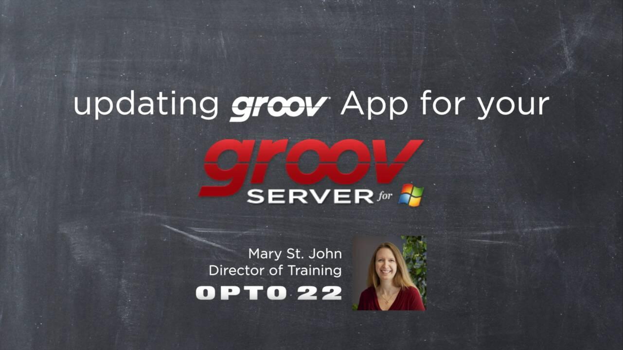 Updating groov App for groov Server for Windows
