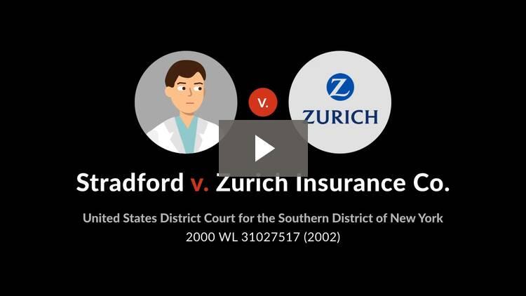 Stradford v. Zurich Insurance Co.