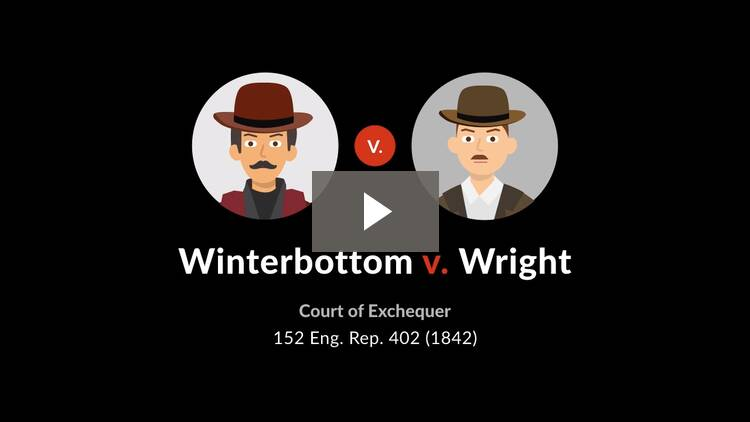 Winterbottom v. Wright