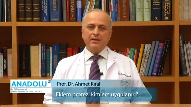 Eklem protezi kimlere uygulanır?