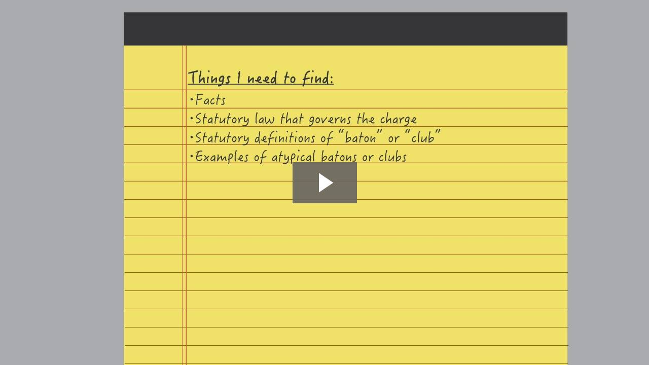 Developing a Legal Research Plan
