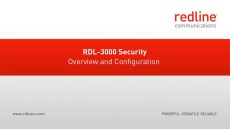 RDL-3000 Security Overview and Configuration