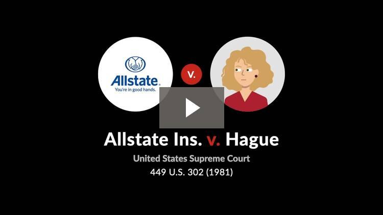 Allstate Ins. Co. v. Hague