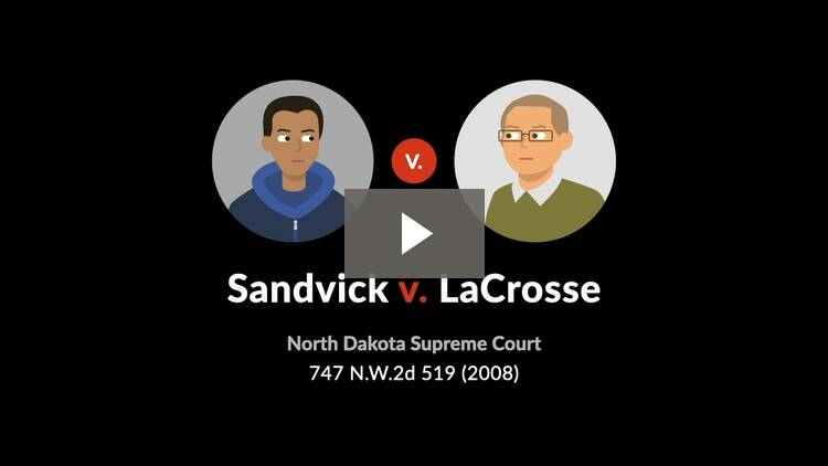 Sandvick v. LaCrosse