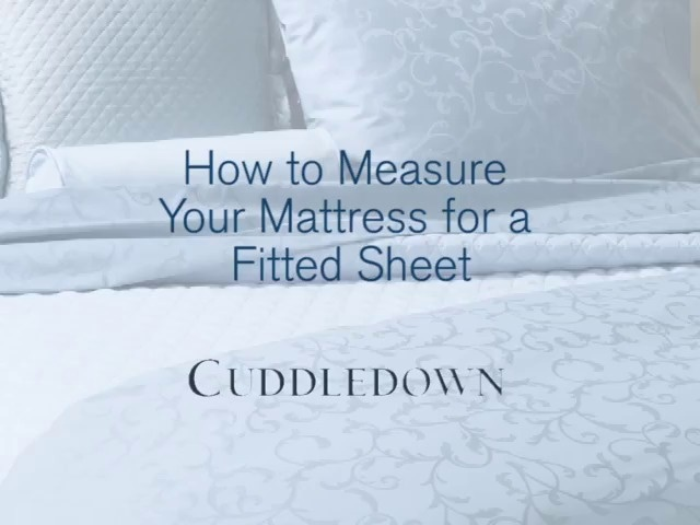 How To Measure For A Fitted Sheet Cuddledown