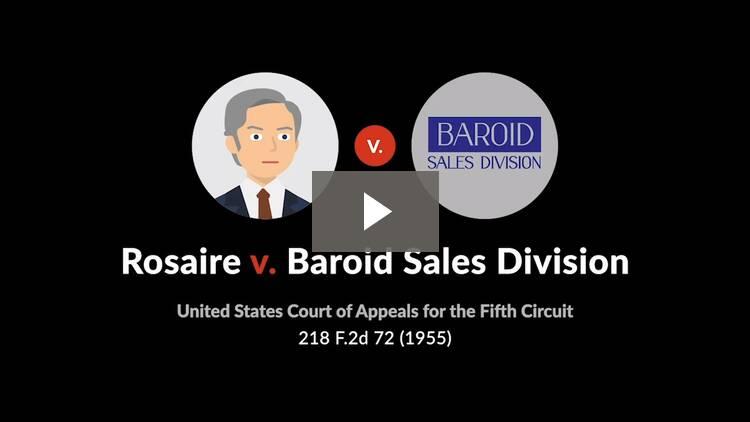 Rosaire v. Baroid Sales Division
