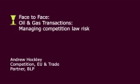 Still image from 'Managing competition law risk' video