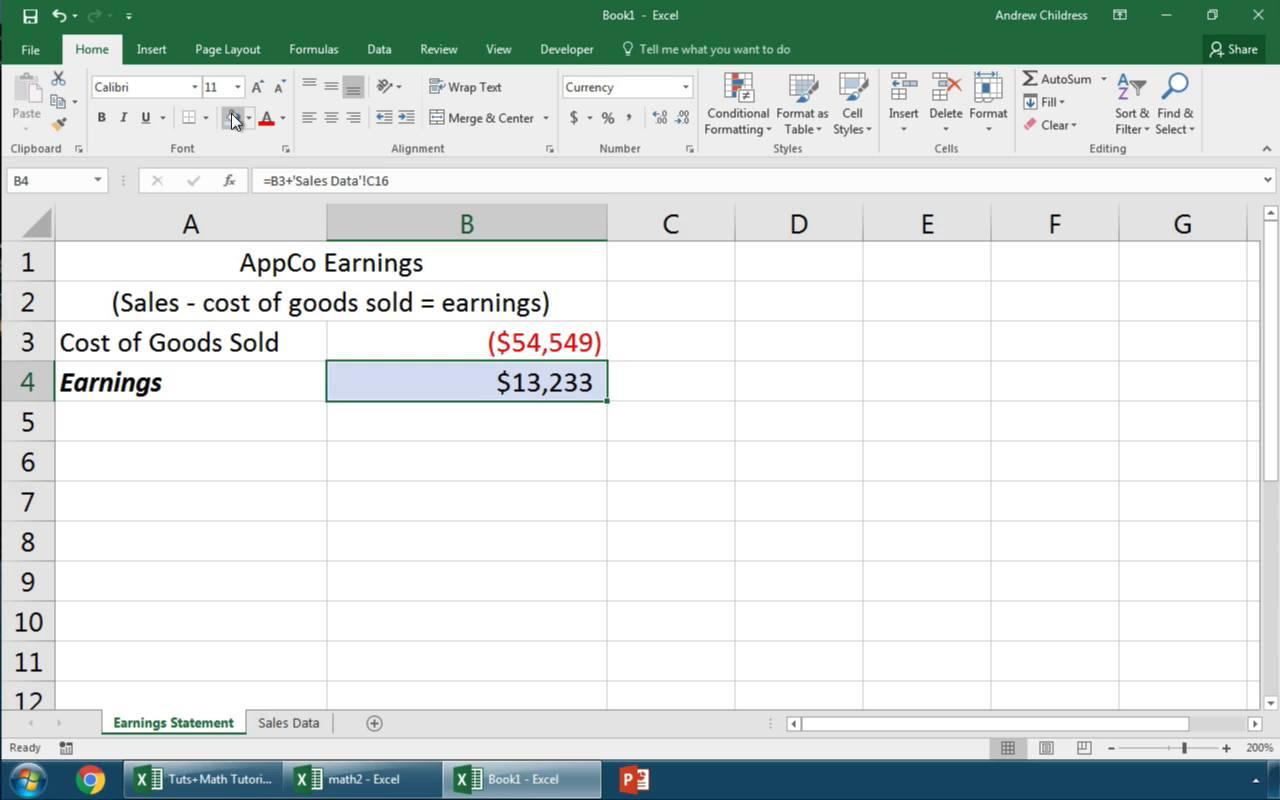 làm thế nào để cấu kết dữ liệu trong workbook excel lại với nhau.