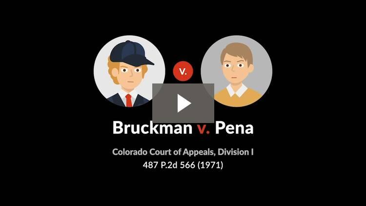 Bruckman v. Pena