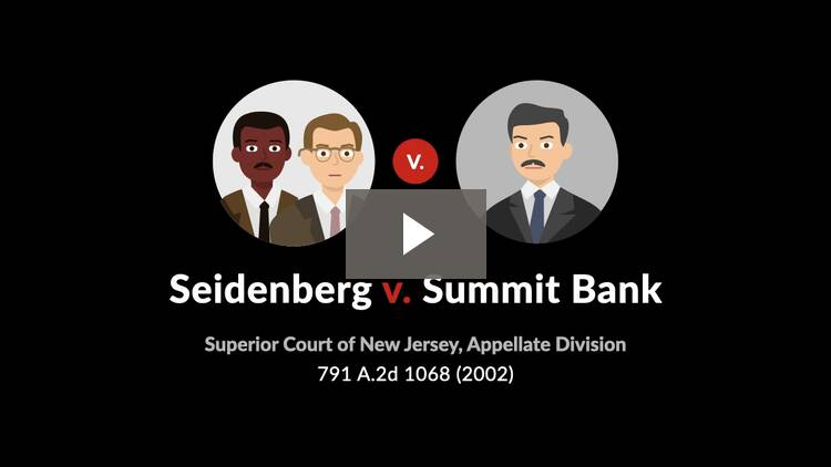 Seidenberg v. Summit Bank