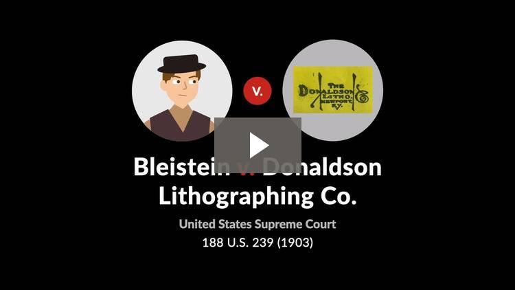 Bleistein v. Donaldson Lithographing Co.