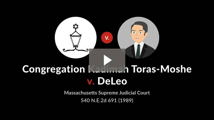 Congregation Kadimah Toras-Moshe v. DeLeo