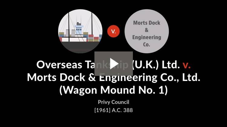 Overseas Tankship (U.K.) Ltd. v. Morts Dock & Engineering Co., Ltd. [Wagon Mound No. 1]