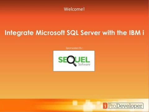 maximize ibm i sql skills integrate microsoft sql server with ibm i