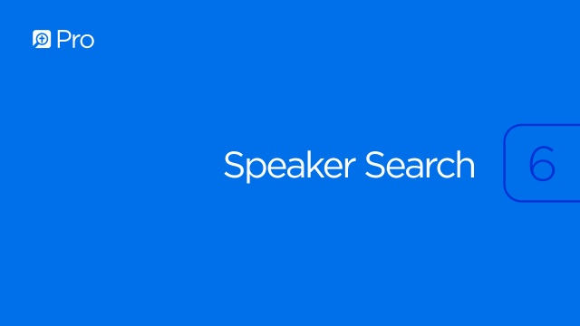 Speaker Search