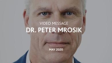 Videobotschaft von Dr. Mrosik, Mai 2020