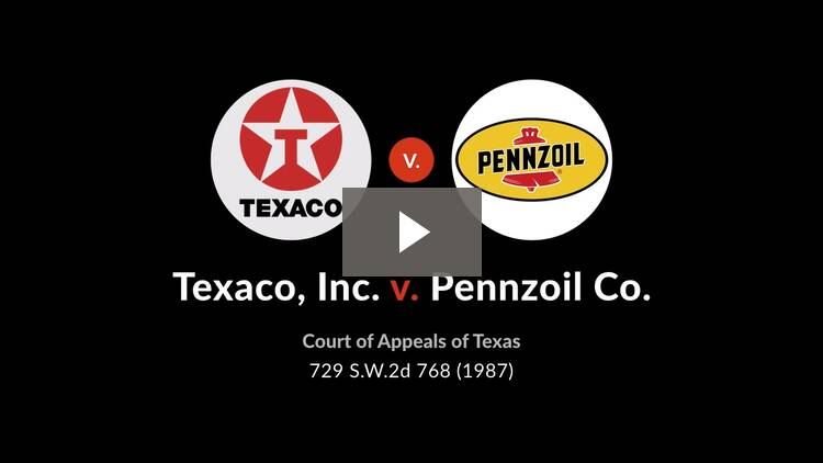 Texaco, Inc. v. Pennzoil Co.