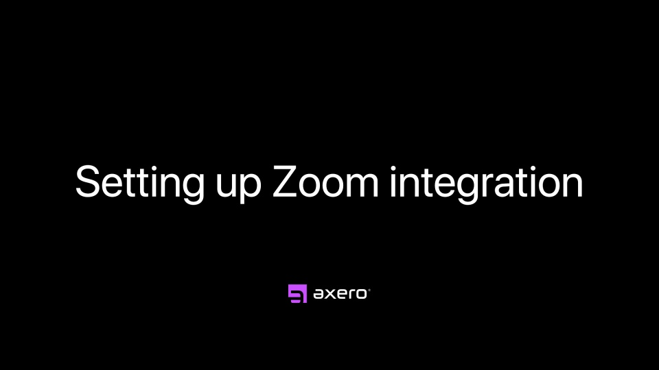 Setting up Zoom integration
