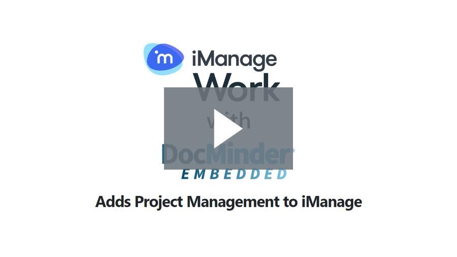 iManage Work 10 with DocMinder Embedded