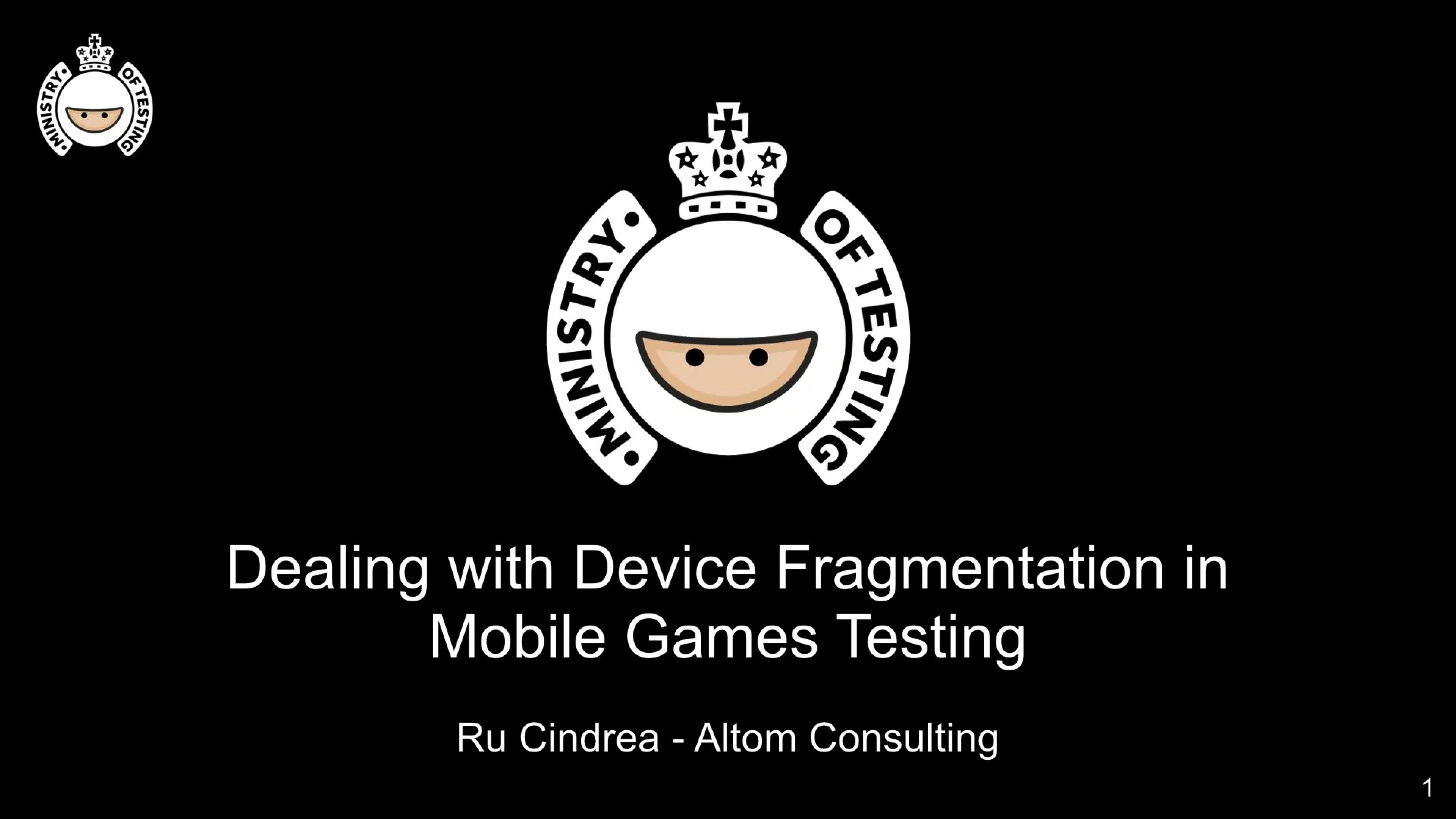 Dealing with Device Fragmentation in Mobile Games Testing with Ru Cindrea